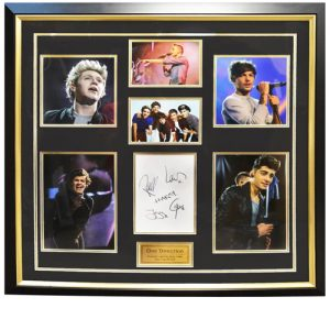 One Direction Framed Signed Display