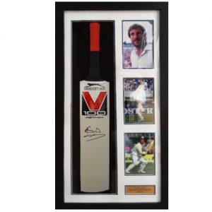 Ian Botham Framed Signed Cricket Bat – Slazenger V100