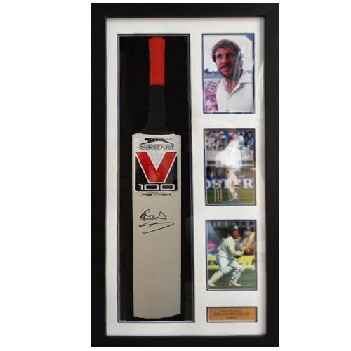 Ian Botham Framed Signed Cricket Bat – Slazenger V100