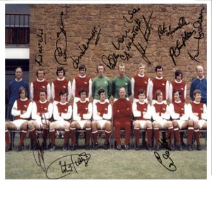 Arsenal 1970-71 Team Photo Signed by 11