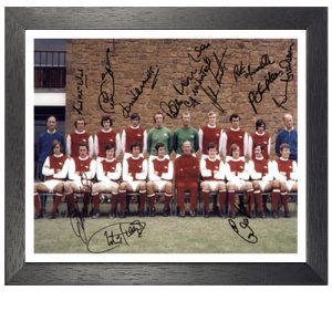 Arsenal Framed 1970-71 Team Photo Signed by 11