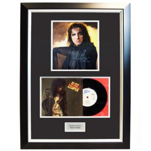 Alice Cooper Framed Signed Display