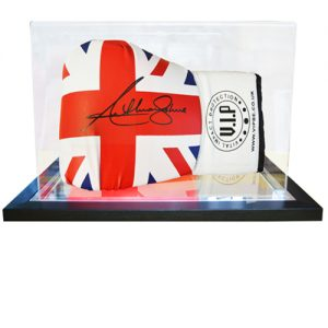 Anthony Joshua Signed Glove in an Acrylic Case (Union Jack)