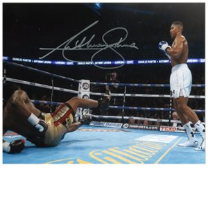 Anthony Joshua Signed Photo – Charles Martin KO