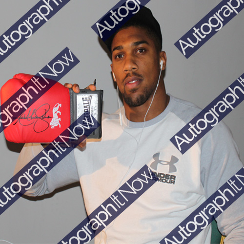Anthony Joshua Framed Signed Glove