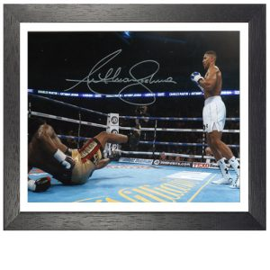 Anthony Joshua Framed Signed Photo – Charles Martin KO