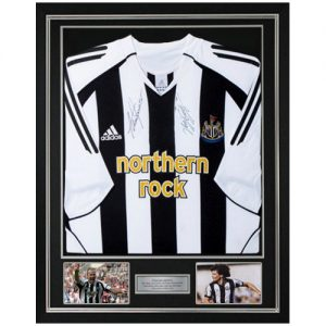 Alan Shearer & Kevin Keegan Deluxe Framed Signed Newcastle Shirt