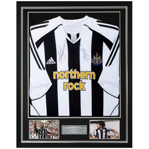 brand new aa391 ec089 Alan Shearer & Kevin Keegan Deluxe Framed Signed Newcastle Shirt