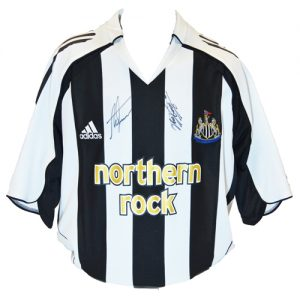 Alan Shearer & Kevin Keegan Signed Newcastle Shirt