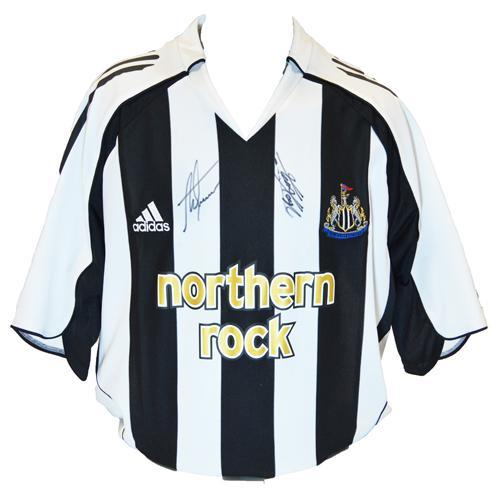 Alan Shearer & Kevin Keegan Signed Newcastle Shirt