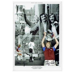 Alan Taylor and Billy Bonds Signed Photo