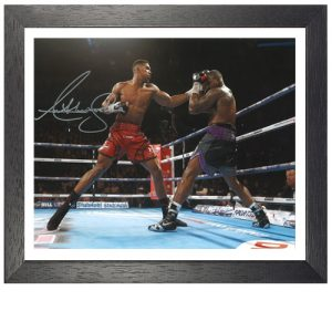 Anthony Joshua Framed Signed Photo - Vs Dillian Whyte