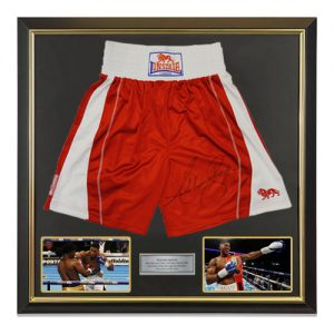 Anthony Joshua Deluxe Framed Signed Boxing Shorts