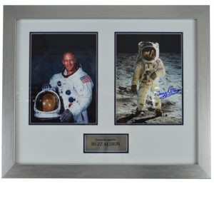 Buzz Aldrin Framed Signed Photo Display