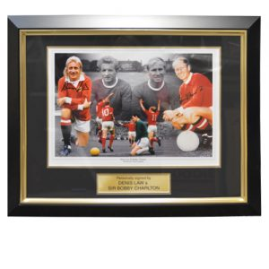 Denis Law & Bobby Charlton Framed Signed Photo
