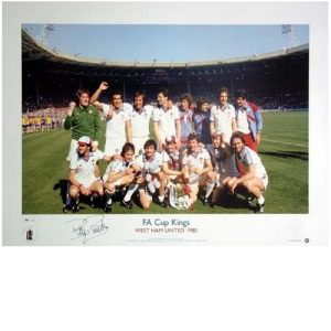 Billy Bonds Signed FA Cup Kings Print