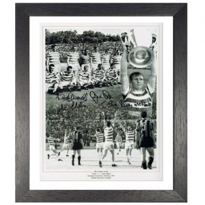 "Celtic 1967 Framed Photo signed by 7 – ""Lisbon Lions"""