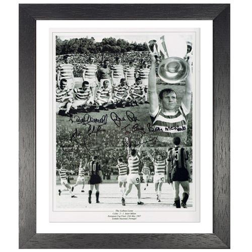 """Celtic 1967 Framed Photo signed by 7 – """"Lisbon Lions"""""""
