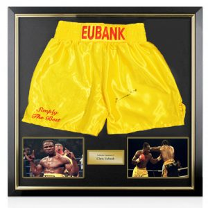 Chris Eubank Deluxe Framed Signed Boxing Shorts
