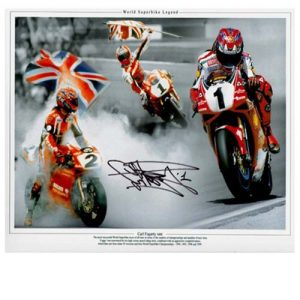 Carl Fogarty Signed Photo Montage
