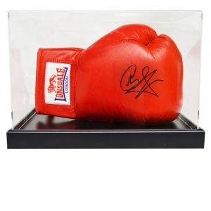 Joe Calzaghe Signed Boxing Glove in an Acrylic Case