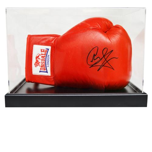 Joe Calzaghe Signed Boxing Glove in an Acrylic Case