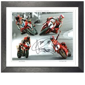 Carl Fogarty & Jamie Witham Dual Signed Framed Photo Montage
