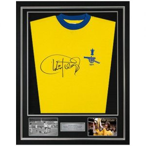 Charlie George Deluxe Framed Signed Arsenal Shirt