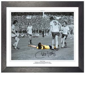 Charlie George Framed Signed Photo