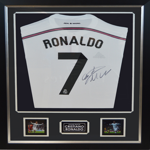 quality design cc077 7fbaf Cristiano Ronaldo Deluxe Framed Signed Real Madrid Shirt