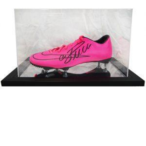 Cristiano Ronaldo Signed Football Boot in an Acrylic Case
