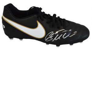 Cristiano Ronaldo Signed Football Boot - Black Nike Tiempo