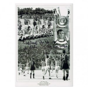 "Celtic 1967 Photo signed by 7 - ""Lisbon Lions"""