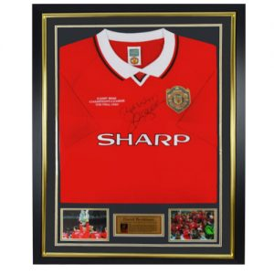 David Beckham Framed Signed Manchester United Shirt
