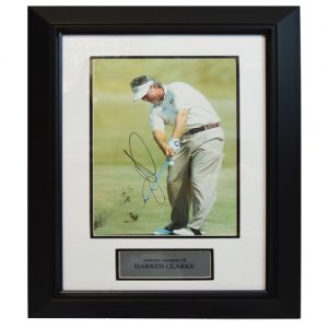 Darren Clarke Framed Signed Photo