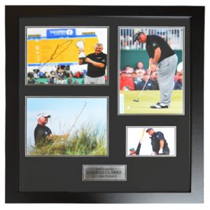Darren Clarke Framed Signed Presentation