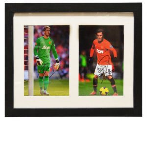 David De Gea & Juan Mata Framed Signed Photos