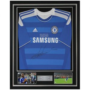 Didier Drogba Deluxe Framed Signed Chelsea Shirt