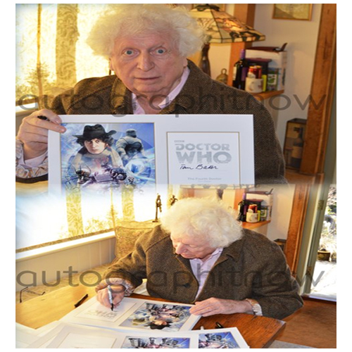 Tom Baker Signed Doctor Who Poster