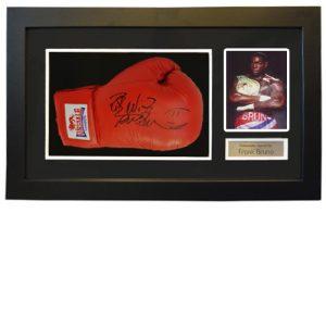 Frank Bruno Framed Signed Glove