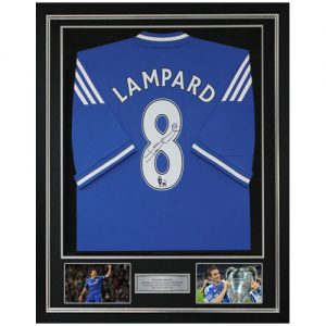 Frank Lampard Deluxe Framed Signed Chelsea Shirt