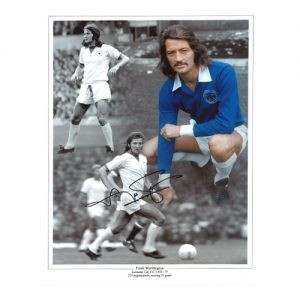 Frank Worthington Signed Photo Montage