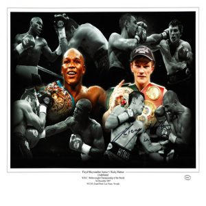 Ricky Hatton Signed Photo Montage