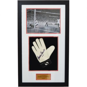 Gordon Banks Framed Signed Glove