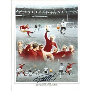 Glenn Hoddle Deluxe Framed Signed Tottenham 1982 FA Cup Shirt