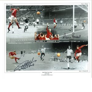 Geoff Hurst & Martin Peters Signed photo Montage