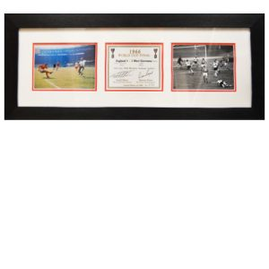Geoff Hurst & Martin Pieters Framed Signed Champagne Label