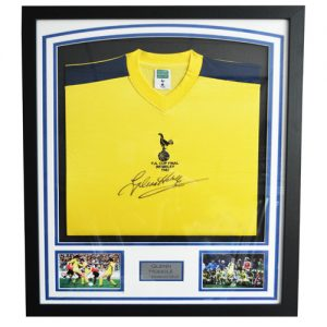 Glenn Hoddle Framed Signed Tottenham 1982 FA Cup Shirt