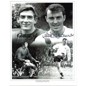 Pat Jennings & Jimmy Greaves Signed Photo Montage
