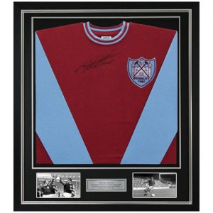 Geoff Hurst Deluxe Framed Signed West Ham 1964 Shirt
